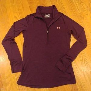 Under Armour Women's 1/4 Zip LS Shirt Small